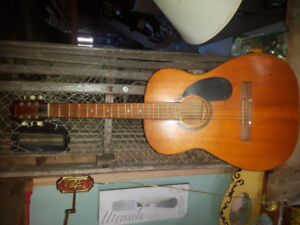 Old classical acoustic guitar