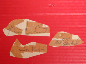 For Sale: Canadiens Autographs x 5 - H. Richard, Olmstead ++ $4