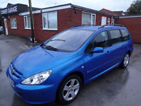 PEUGEOT 307 2.0 HDi 110 S ESTATE~53/2003~MANUAL~STUNNING METALLIC BLUE~CLEAN CAR