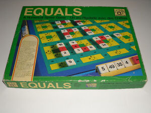 EQUALS Numeral Spree Game 1975 (like Scrabble but with Math)