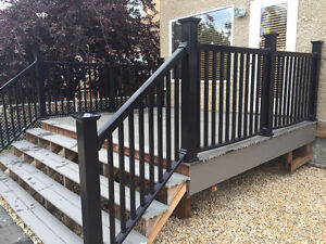 Entire 10' by 12' (foot) Veranda composite deck and railings