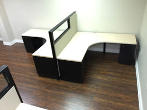 Cubicles - Open Concept Desk with one divider panel From $800