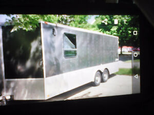 20ft utility trailer, sway free hitch and wheel lock
