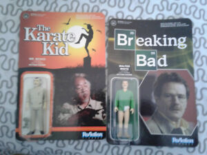 Figurines Funko Karate Kid et Breaking Bad