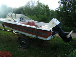 1984 SILVERLINE OUTBOARD WITH 1971 VINTAGE JOHNSON OUTBOARD