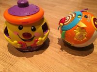 Baby toys. Fisher price and vtech