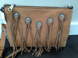 Rebecca Minkoff Eyelet Fringe Cross Body Bag - New With Tags