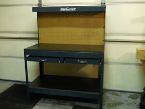 Large Work Bench 4 ft long 5 ft high 2 ft wide (metal)