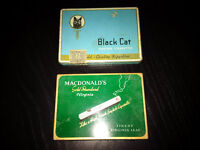 Vintage Black Cat, Macdonald's, and Player's cigarette tins - in