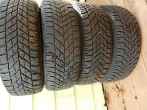 Goodyear ultragrip  winter 205 55 16 tires  on steel rims