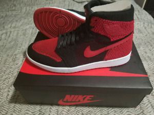 "Air Jordan 1 ""BRED"" Flyknit Size 11 $250"