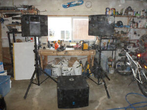 450 watt PA & Powered Sub