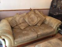 Large 3 seater settee dynasty gold