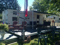 Travel Trailer with waterfront lot, everything included
