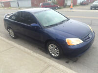 2003 Honda Civic Coupe (2 door) condition excellente