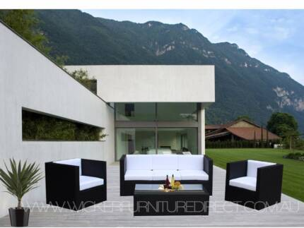 NEW Wicker Outdoor Furniture Lounge Available Black, Brown &White