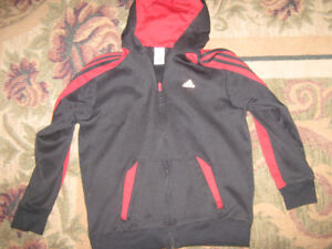 Adidas hooded zip up sweater boys large