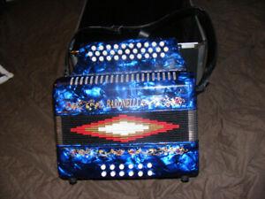 New 3 Row Accordion, Strap and Case