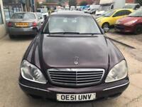 Mercedes-Benz S320 3.2TD 3244cc auto S320 CDi 4 DOOR - 2002 51-REG -3 MONTHS MOT