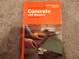 Popular Science Skill book - How to work with Concrete and Mason Sarnia Sarnia Area image 1