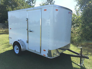 Enclosed  6x10 Barn Door Trailer
