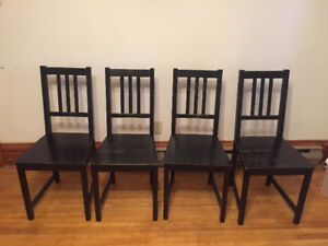4 Wooden Dinning Room Chairs