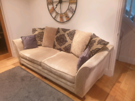 Sterling Furniture 4 Seater Sofa, Cuddle Chair and Foot stool