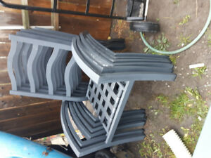 Lawn furniture green 6 chairs