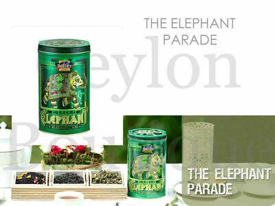 Battler Green Elephant OPA Ceylon Green Tea - 100g Loose leaf Tea in Tin Caddy Opas Caddy
