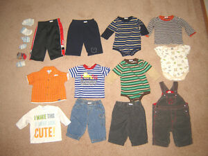 Boys Clothes - 0-3, 3, 3-6, 6, 6-12 months
