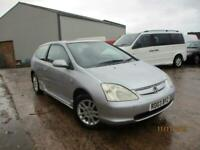 HONDA CIVIC 1.6 SPORT LOW MILAGE AUTO SPARES AND REPAIRS EXPORT ONLY
