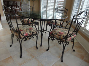 Four (4) Kitchen Chairs Only – Wrought Iron - $125.00 Total