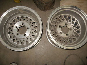 14X10 Aluminum Western wheels, 5X4.5, sell or trade London Ontario image 4