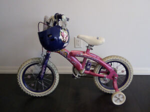 """12"""" Girl's pink colour bike for sale with free Helmet"""