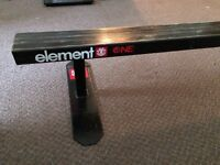 Element Flat Bar Skateboard Rail