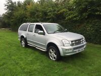 Isuzu redeo Denver Max le 3ltr turbo diesel top spec 4x4 double cab 56reg 1 year mot no vat!!!
