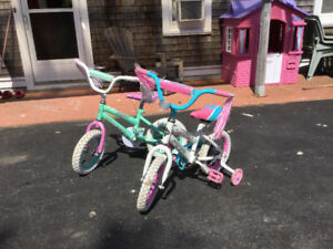 "Two 12"" Girls BIkes"