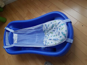 baby bath tub with sling