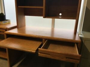 Solid Oak Computer Desk & Printer Table