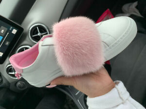 Authentic Givenchy Sneakers - Mink Fur pink/white