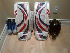 Used youth goaltender equipment