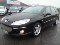 08 PEUGEOT 407 2.0 HDI 136 SPORT ESTATE 6 SPEED BLACK