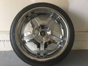 4 tires 255 35 ZR20 FALKENS tires comes with universal rims