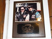DALE EARNHARDT SR.+RICHARD PETTY AUTOGRAPHED PLAQUE;