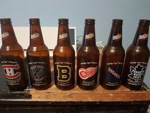 Labatt Blue NHL Original 6 Beer Bottles