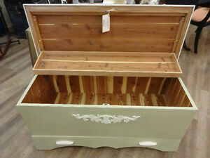 Vintage Painted Cedar Chest at The Old Attic