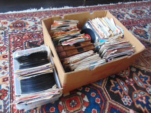 Boxes of 45 RPM Records. Fill Your Jukebox