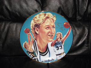 """1987 LIMITED EDITION LARRY BIRD AUTOGRAPHED 10"""" PLATE"""