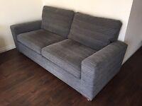 NEXT 3 seater sofa, grey (Sonoma)