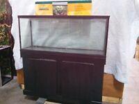 Reptile Snake Tank ( aquarium ) C/W stand screen top & light